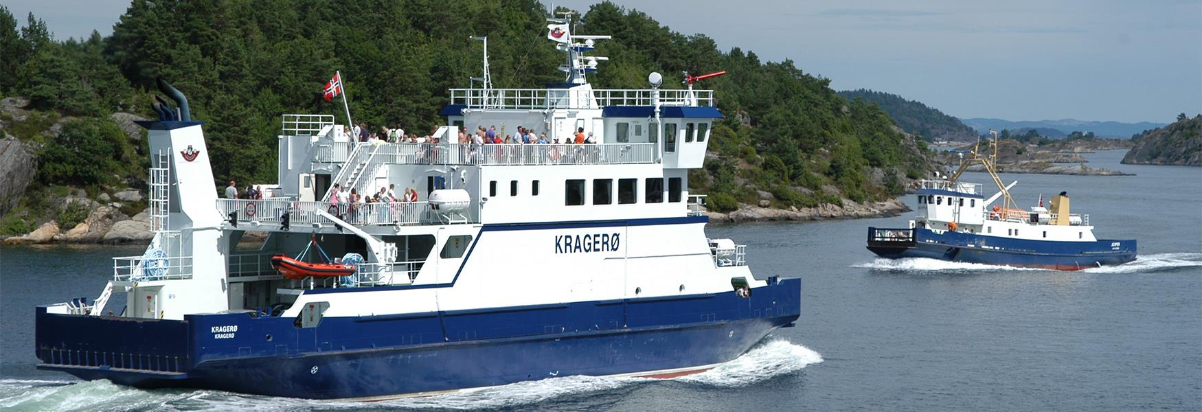 Ferries in the Kragerø archipelago