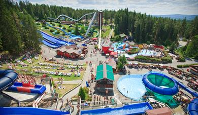 View of the waterpark