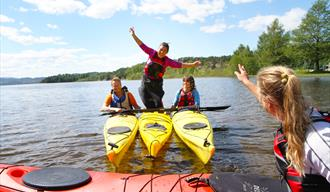 Kayaks and canoes for rent at Telemark Kanalcamping