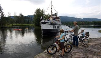 Cycling along The Telemark Canal