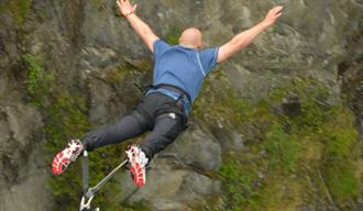 Norway's thoughest bungee jump at the suspension bridge at Vemork