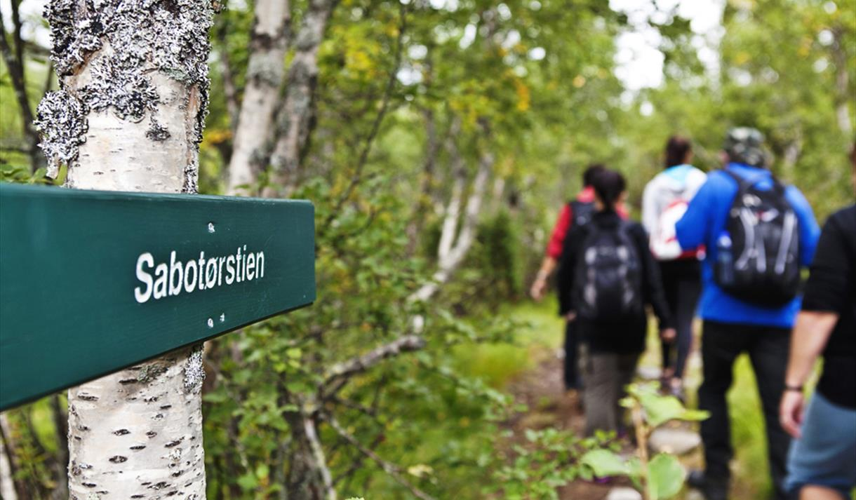 Sabotørstien is 8 km and goes from Rjukan Fjellstue to Norwegian Industrial Workers museum